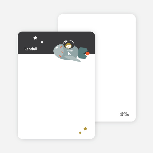 Notecards for the 'Spaceships and Dolphins' cards. - Dark Gray