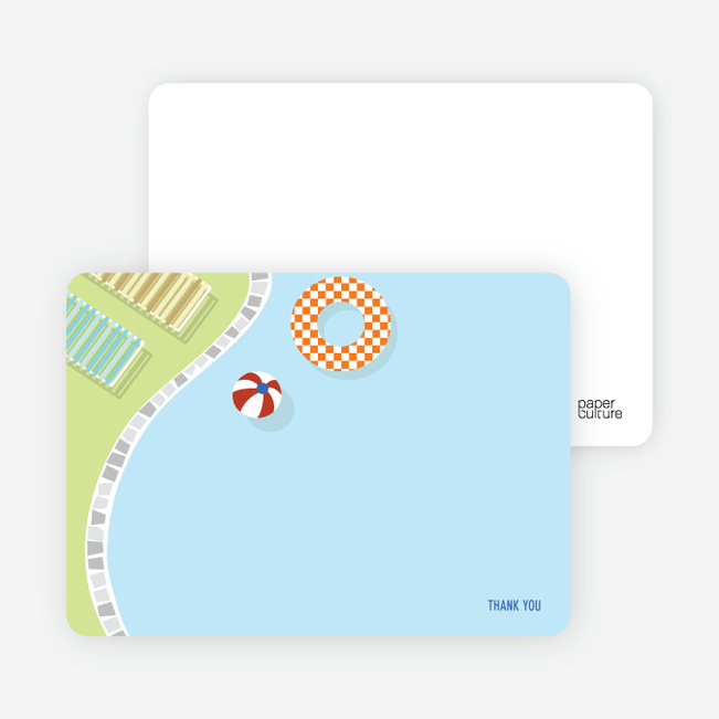 notecards for the splish splash pool party cards paper culture