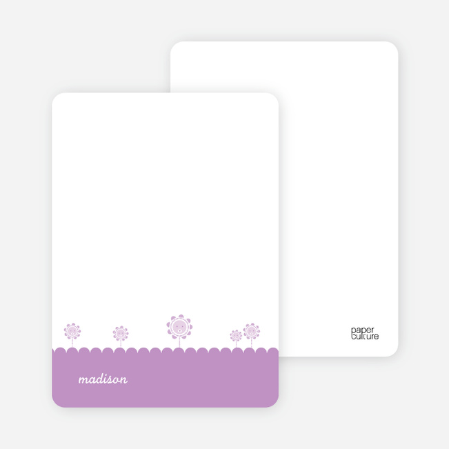 Notecards for the 'Spring Flowers' cards. - Lavender