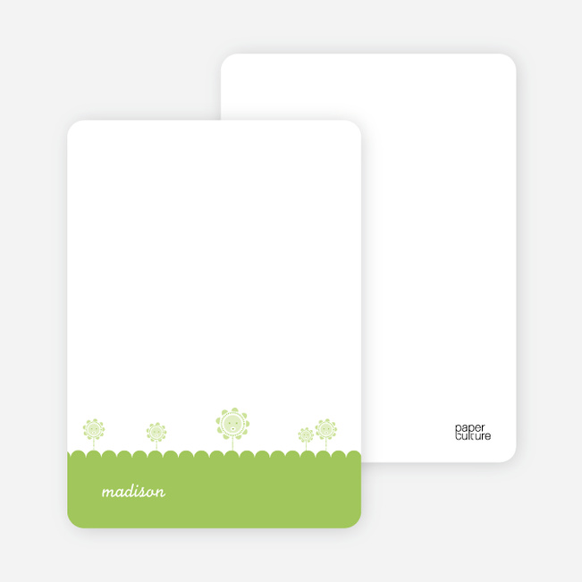 Notecards for the 'Spring Flowers' cards. - Apple Green