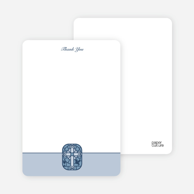 Notecards for the 'Stained Glass' cards. - Powder Blue