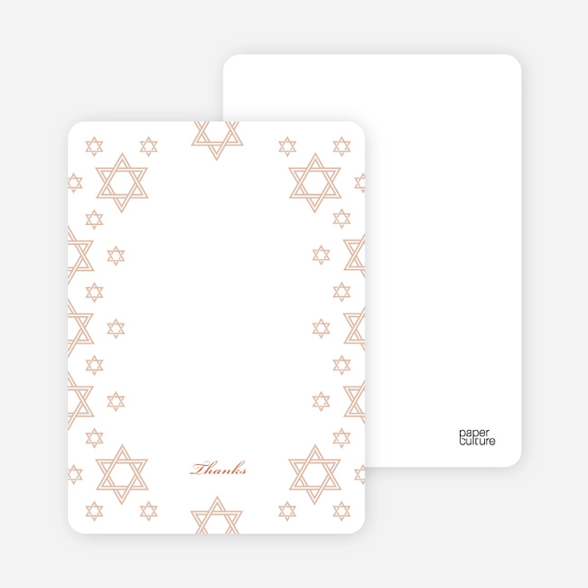 Notecards for the 'Star of David Border' cards. - Honey