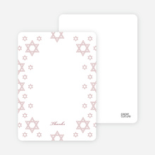 Star of David Border Note Cards - Tea Rose
