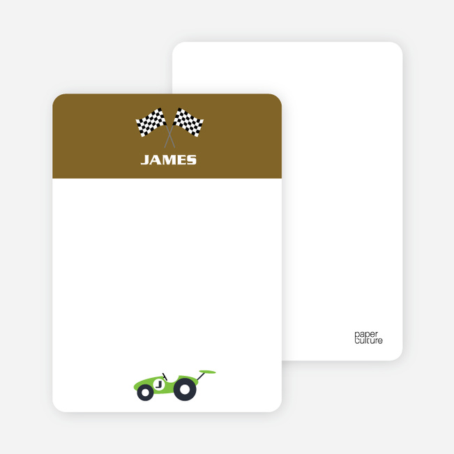 Notecards for the 'Start Your Engines' cards. - Khaki Brown