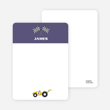 Notecards for the 'Start Your Engines' cards. - Slate Purple
