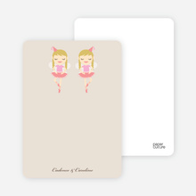 Notecards for the 'Twin Ballerinas' cards. - Russet Brown