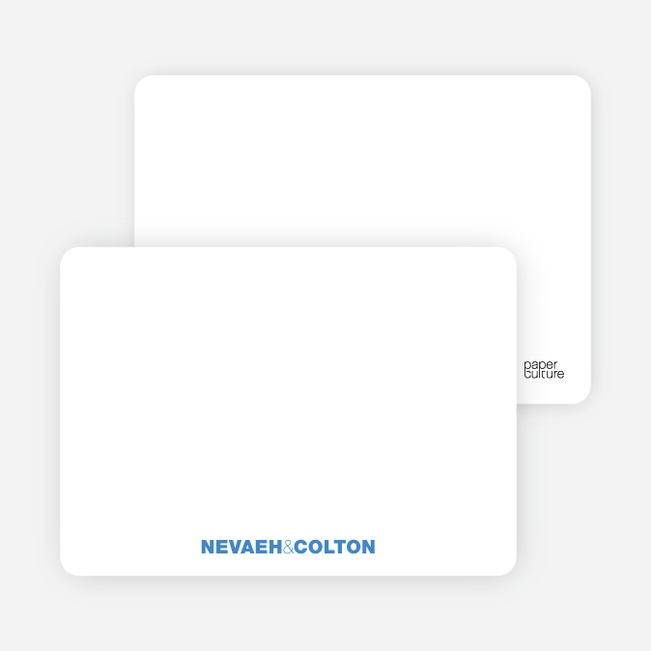 Notecards for the 'Twin Cradle Talk' cards. - Royal Blue