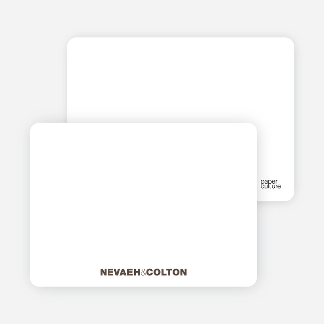 Notecards for the 'Twin Cradle Talk' cards. - Espresso