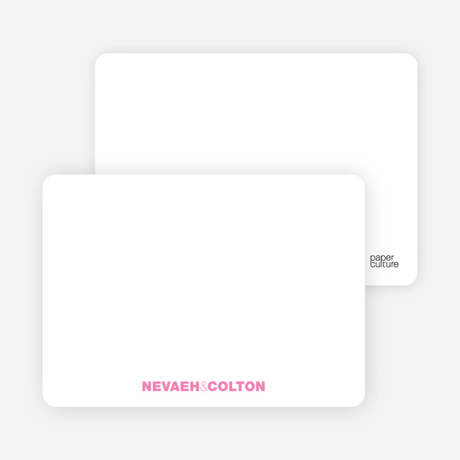 Notecards for the 'Twin Cradle Talk' cards. - Shocking Pink