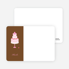 Wedding Dress Cake Shower Note Cards - Cotton Candy Pink