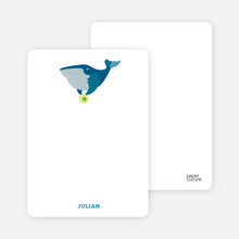 Notecards for the 'Whale of a Time' cards. - Aquamarine