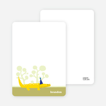 Notecards for the 'Zoo Birthday Party' cards. - Cornflower Blue