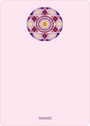 Notecards for the 'Ornate Star of David' cards. - Blush