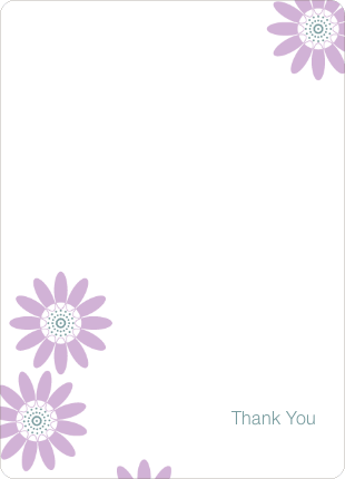 Notecards for the 'Spring Showers, May Flowers' cards. - Wisteria