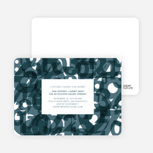 Number Chaos Party Invitations - Mystic Blue