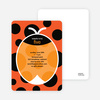 Orange Ladybug Modern Birthday Invitation - Blood Orange