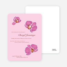 Orchid Bridal Shower Invitations - Cotton Candy