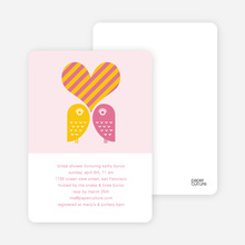 Owls in Love Bridal Shower Invites - Hot Pink