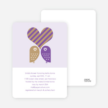 Owls in Love Bridal Shower Invites - Grape