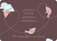 Birds in Flight Moving Announcements - Tea Rose