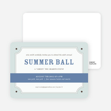 Placard Party Invitation - Cadet Blue