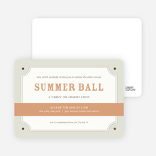 Placard Party Invitation - Light Cinnamon