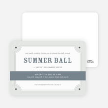 Placard Party Invitation - Pewter