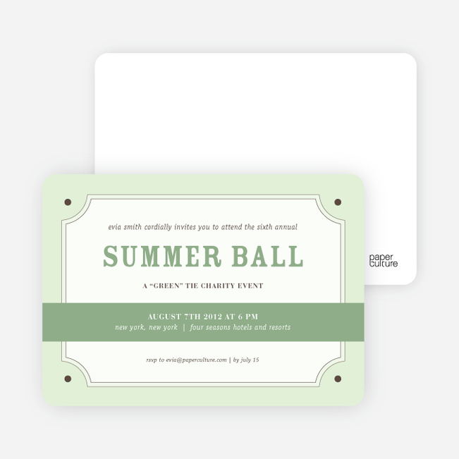 Party Invitations for that Classic Event - Jasmine