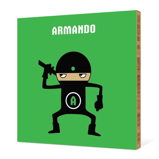 Ninja Bamboo Wall Art - Bright Green