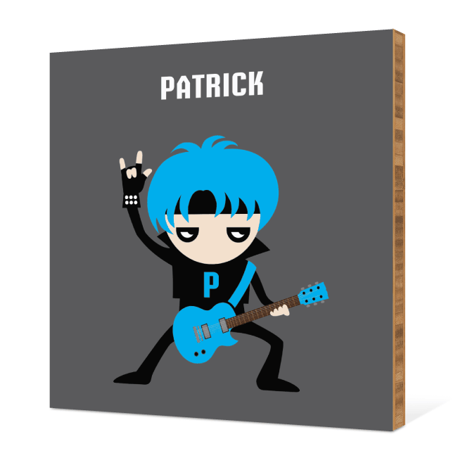 Guitar Hero / Rock Band Bamboo Wall Art - Electric Blue