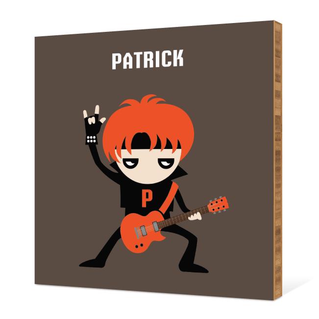 Guitar Hero / Rock Band Bamboo Wall Art - Red Rocker