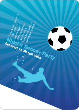 Soccer Party Invitation - Light Blue