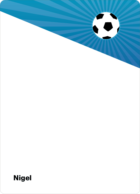 Notecards for the 'Soccer Kick' cards. - Light Blue