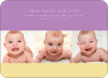 Studio Triple Birth Announcements - Front View