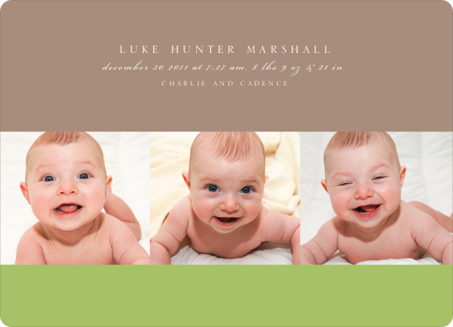 Studio Triple Birth Announcements - Mud Pie