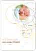 Modern Circles Baby Announcement - Multi
