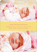 Photo Sandwich Birth Announcements - Pollen