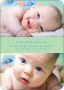 Photo Sandwich Birth Announcements - Lime Float