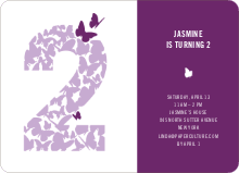 Flying Butterfly Modern Birthday Invitation - Light Red