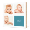 All Square Photo Bamboo Wall Art - Cool Blue