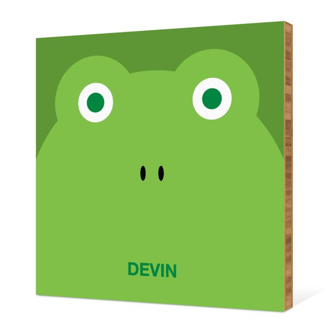 Frog Face Modern Wall Art - Paper Culture Green