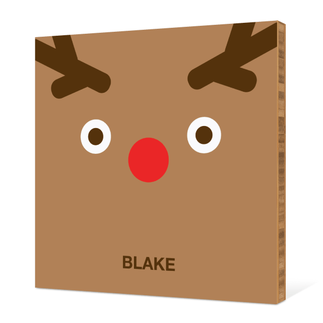 Reindeer Face Modern Wall Art - Tan Brown