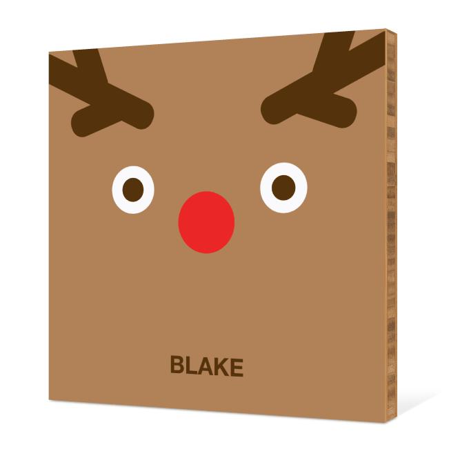 Reindeer Face Modern Wall Art - Tan Brown
