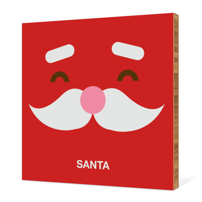 Santa Face Modern Wall Art - Fire Engine Red