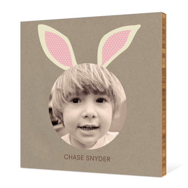 Bunny Ears Bamboo Wall Art - Tea Rose