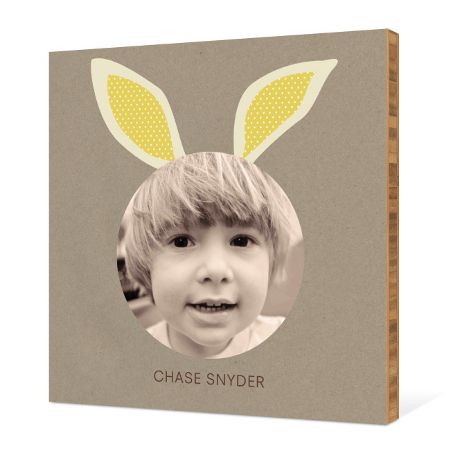 Bunny Ears Bamboo Wall Art - White