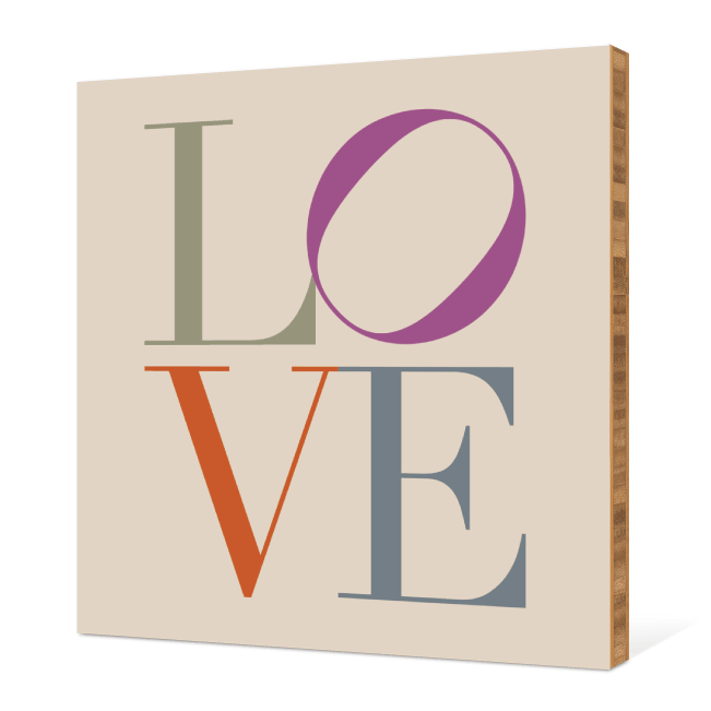 L O V E Wall Decor - Multi