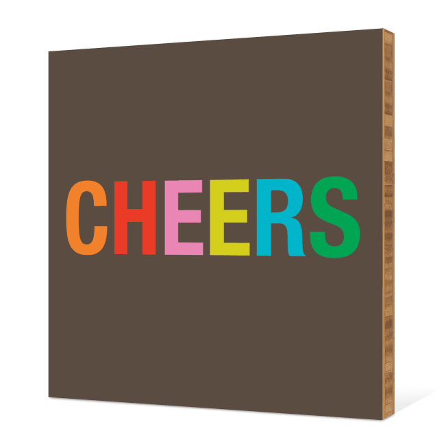Cheers Bamboo Wall Art - Tomato Red