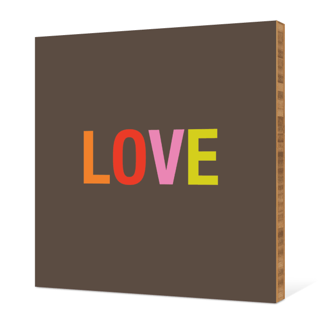 Love Bamboo Wall Art - Chartreuse
