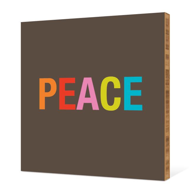 Peace Bamboo Wall Art - Multi